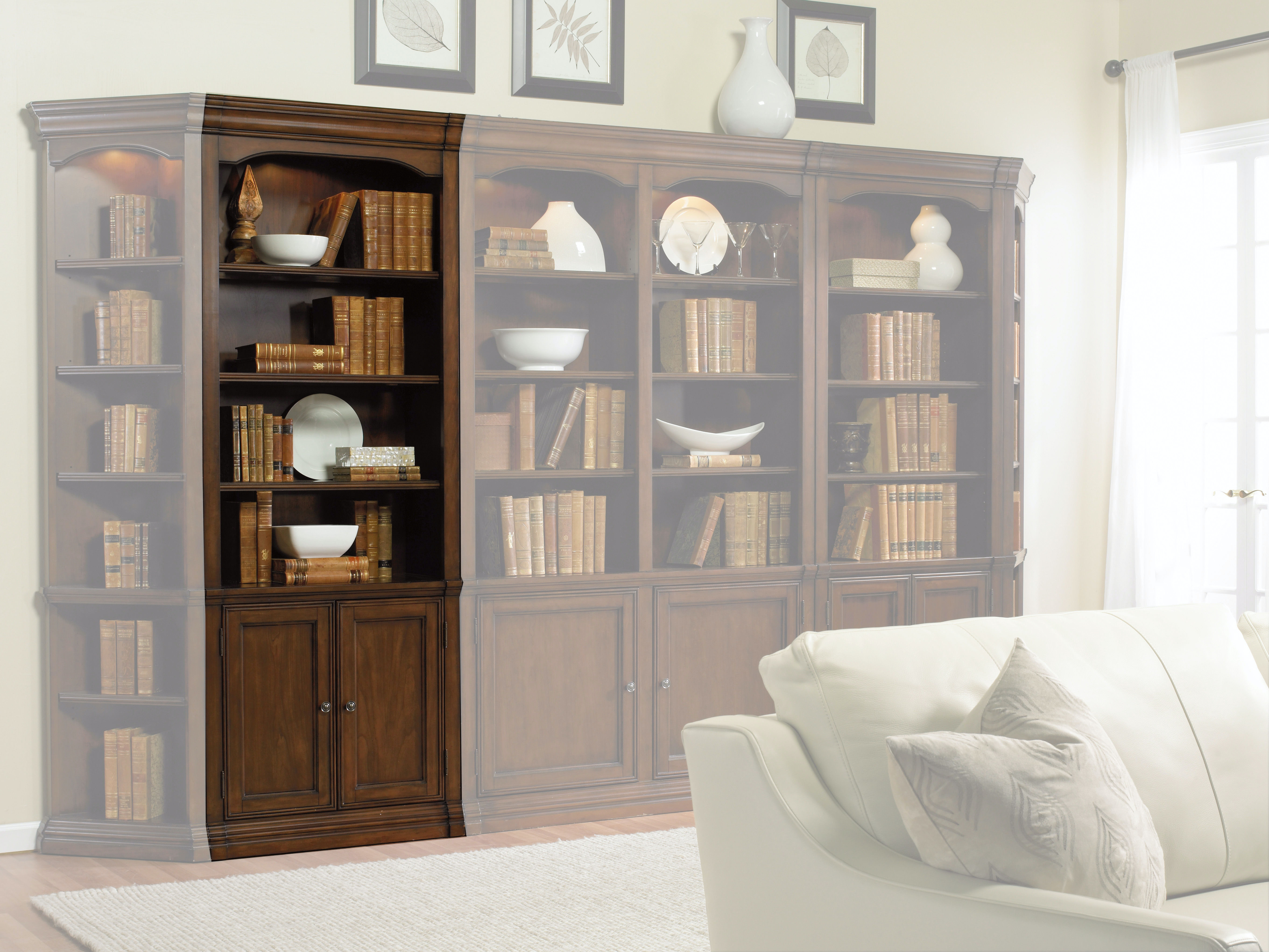 cherry furniture living room home design photos hooker office creek 32 wall storage cabinet 258 70 446