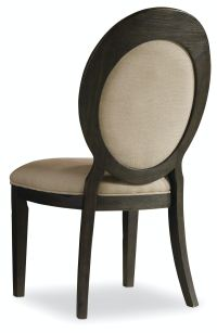 Hooker Furniture Dining Room Corsica Dark Oval Back Side