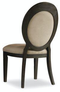 Hooker Furniture Dining Room Corsica Dark Oval Back Side