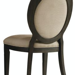 Oval Office Chair Posture Control Hooker Furniture Dining Room Corsica Dark Back Side