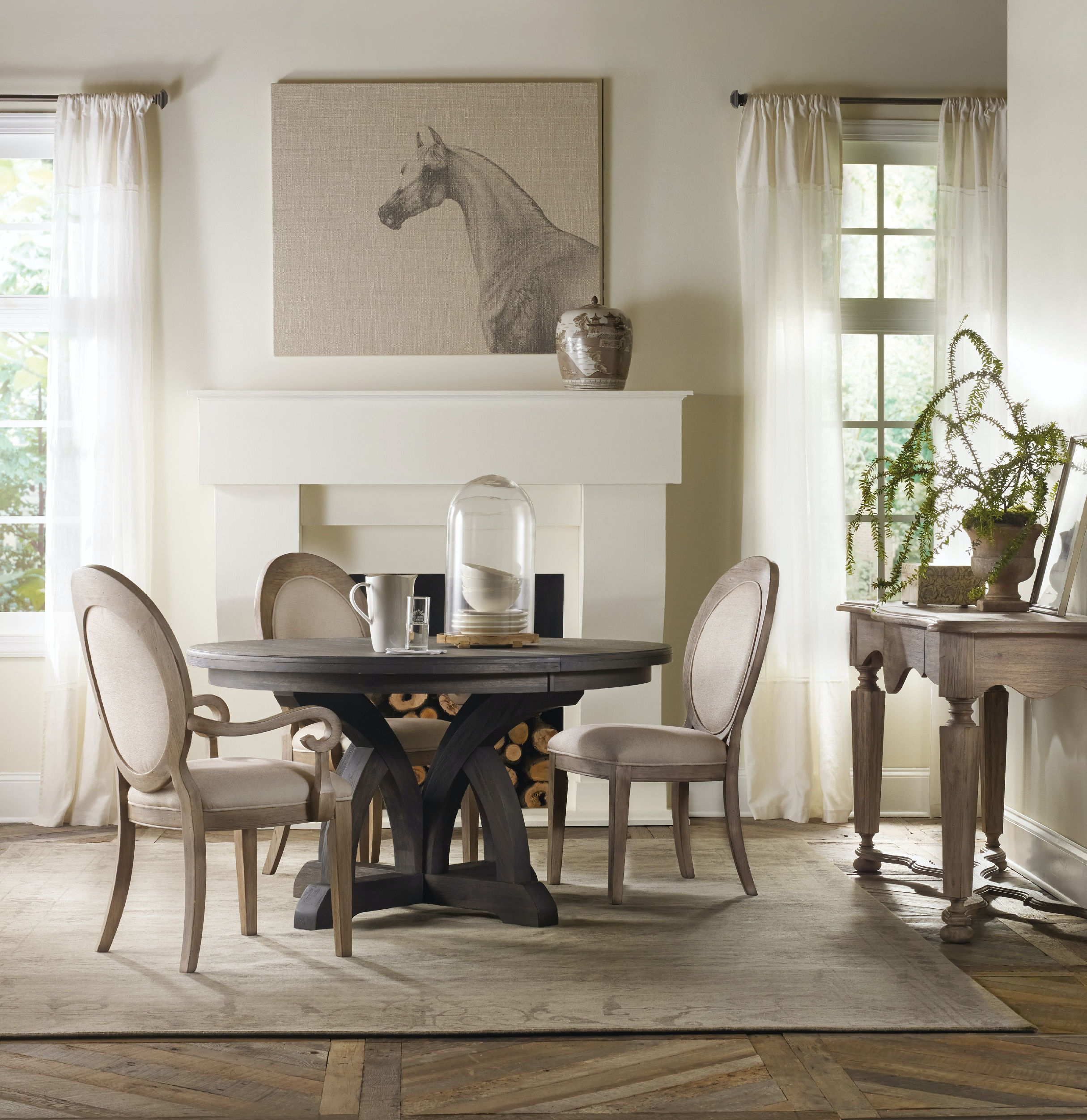 oval back dining room chairs kelty low love chair hooker furniture corsica side 5180 75412 collection video