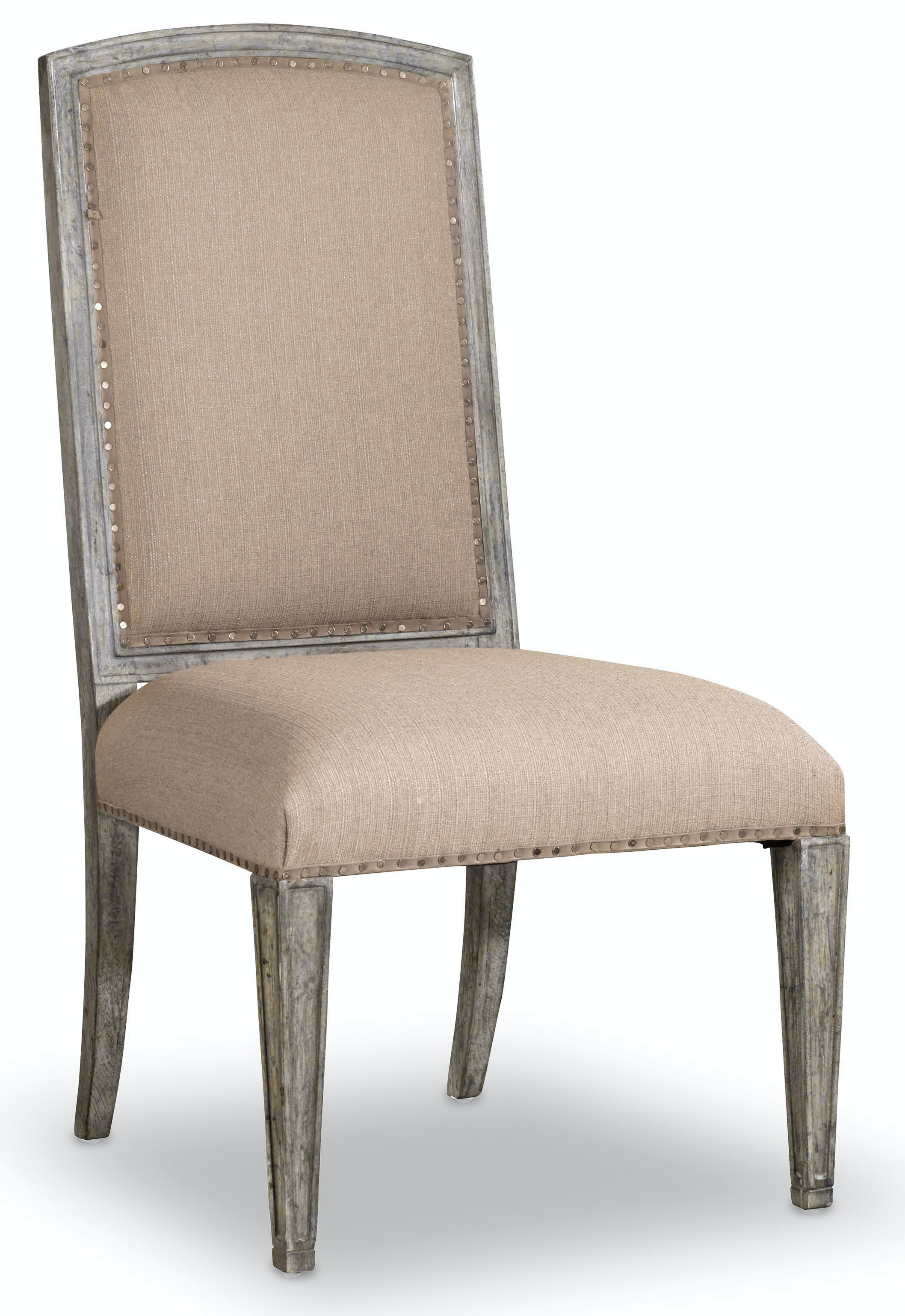 upholstered dining chairs canada aniline leather lounge chair and ottoman hooker furniture room true vintage side