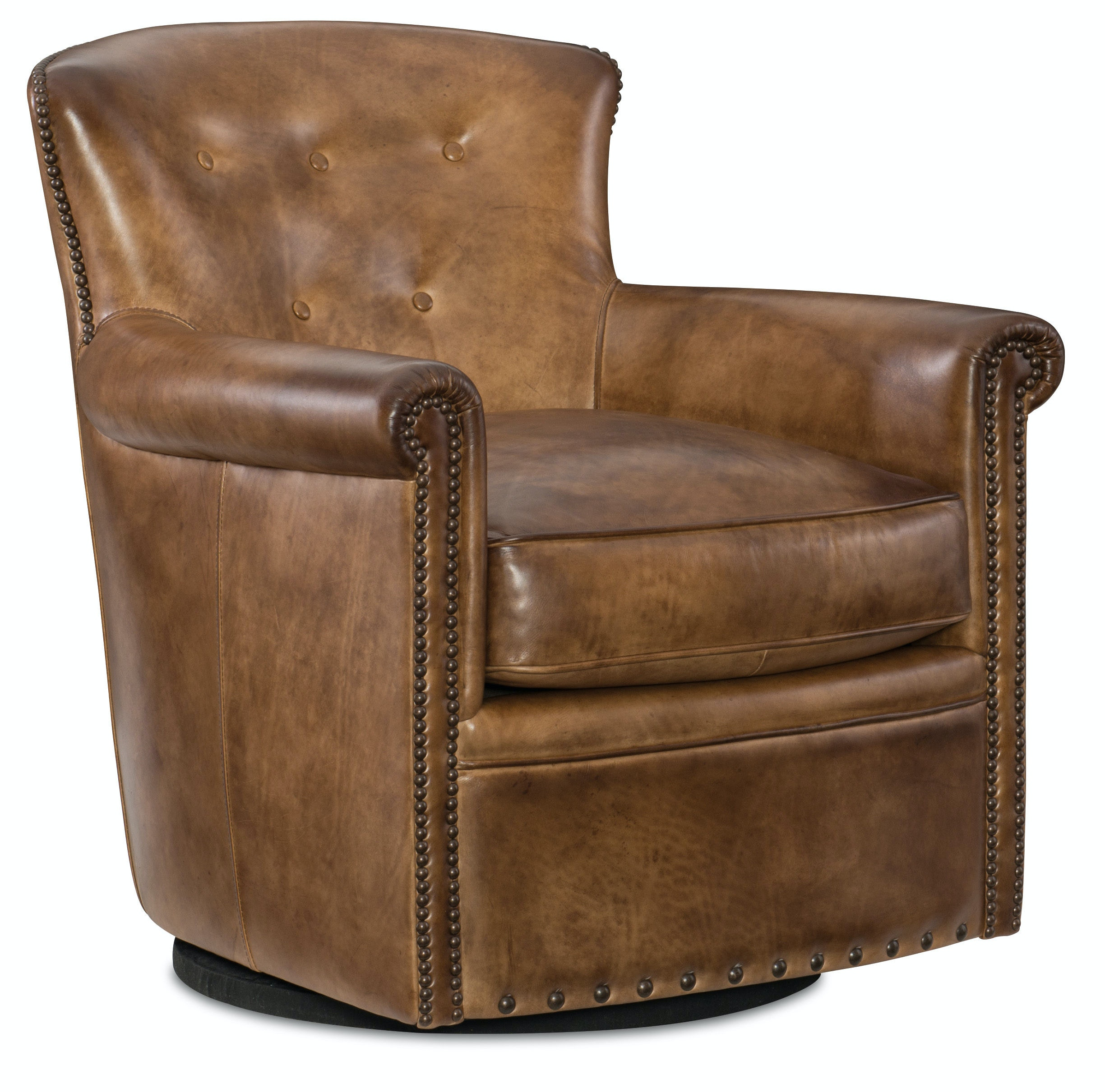 swivel club chair recliner office chairs for big and tall hooker furniture living room jacob cc510