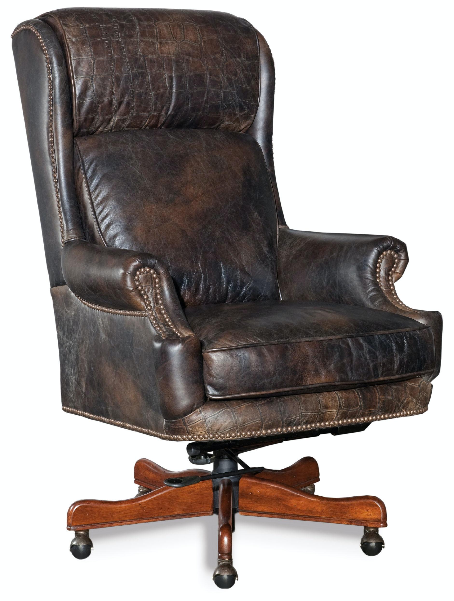 swivel chair for home office ikea baby hooker furniture tucker executive tilt