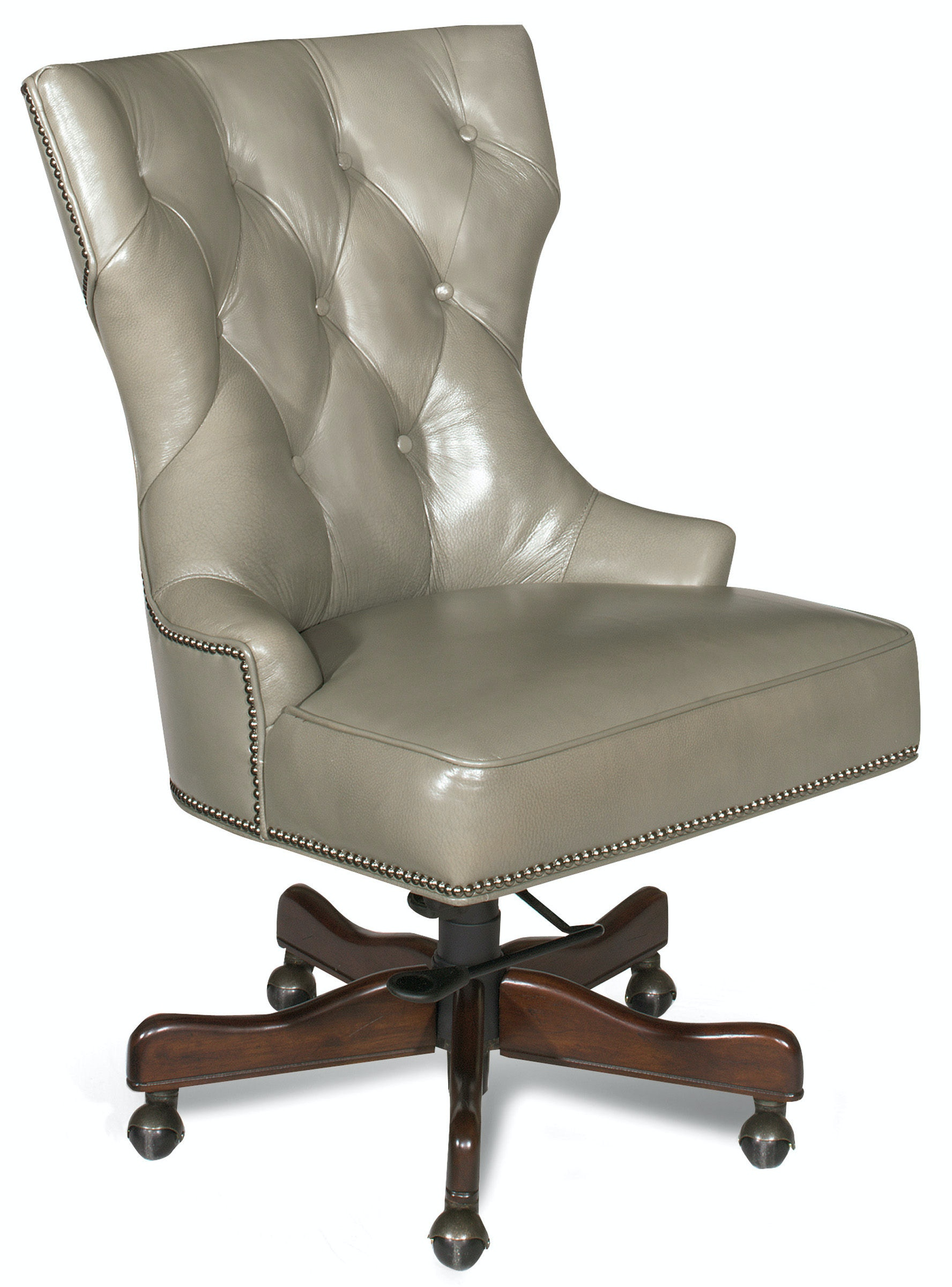 hooker desk chair blue wingback with ottoman furniture home office primm ec379 096