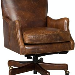 Swivel Chair For Home Office Brown Leather Accent Chairs Hooker Furniture Barker Tilt