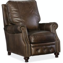 Hooker Leather Chair Oak Antique Chairs Furniture Living Room Winslow Recliner Rc150 088