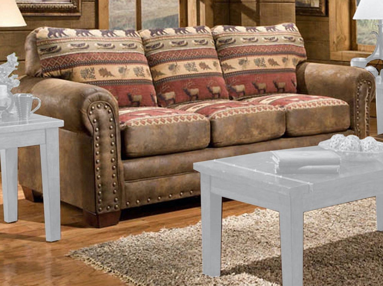 lodge living room furniture window dressing ideas for rooms american classics sierra sleeper sofa 8505 10 at aaron s fine