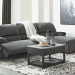 Signature Design By Ashley Living Room Clonmel 3 Piece Power Reclining Sectional With Chaise