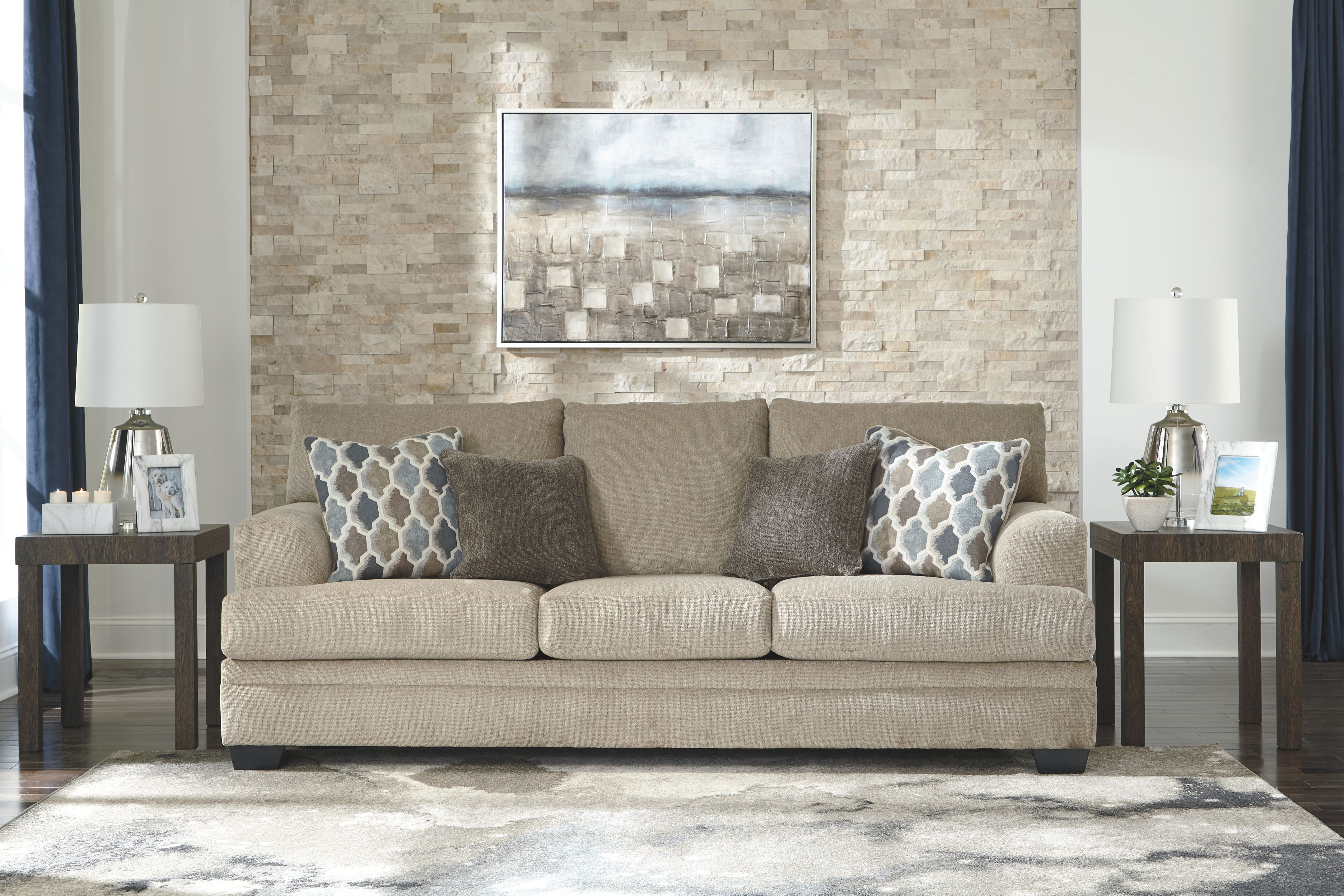 ashley living room how to decorate with dark chocolate leather sofas signature design by sofa 7720538 the furniture at mall