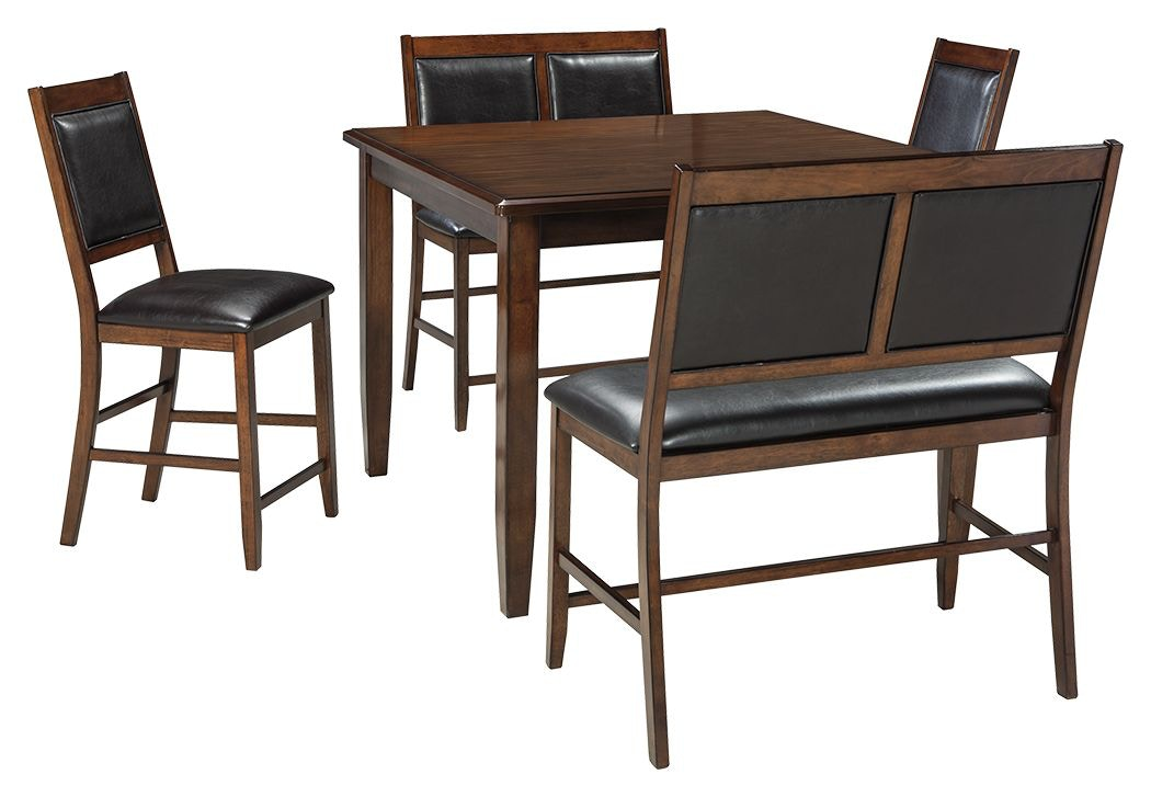 Shop Our Meredy Counter Height Dining Room Table And Bar Stools Set Of 5 By Signature Design By