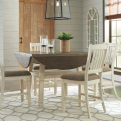 Upholstered Counter Height Chair Moon Ikea Signature Design By Ashley Round Drop Leaf Table On Sale At Elgin Furniture Stores In ...