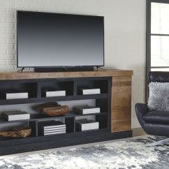Home Entertainment Fireplace Living Room Furniture Glass Shelves For Signature Design By Ashley Xl Tv Stand W Option W715 68 At Smokey Mountain