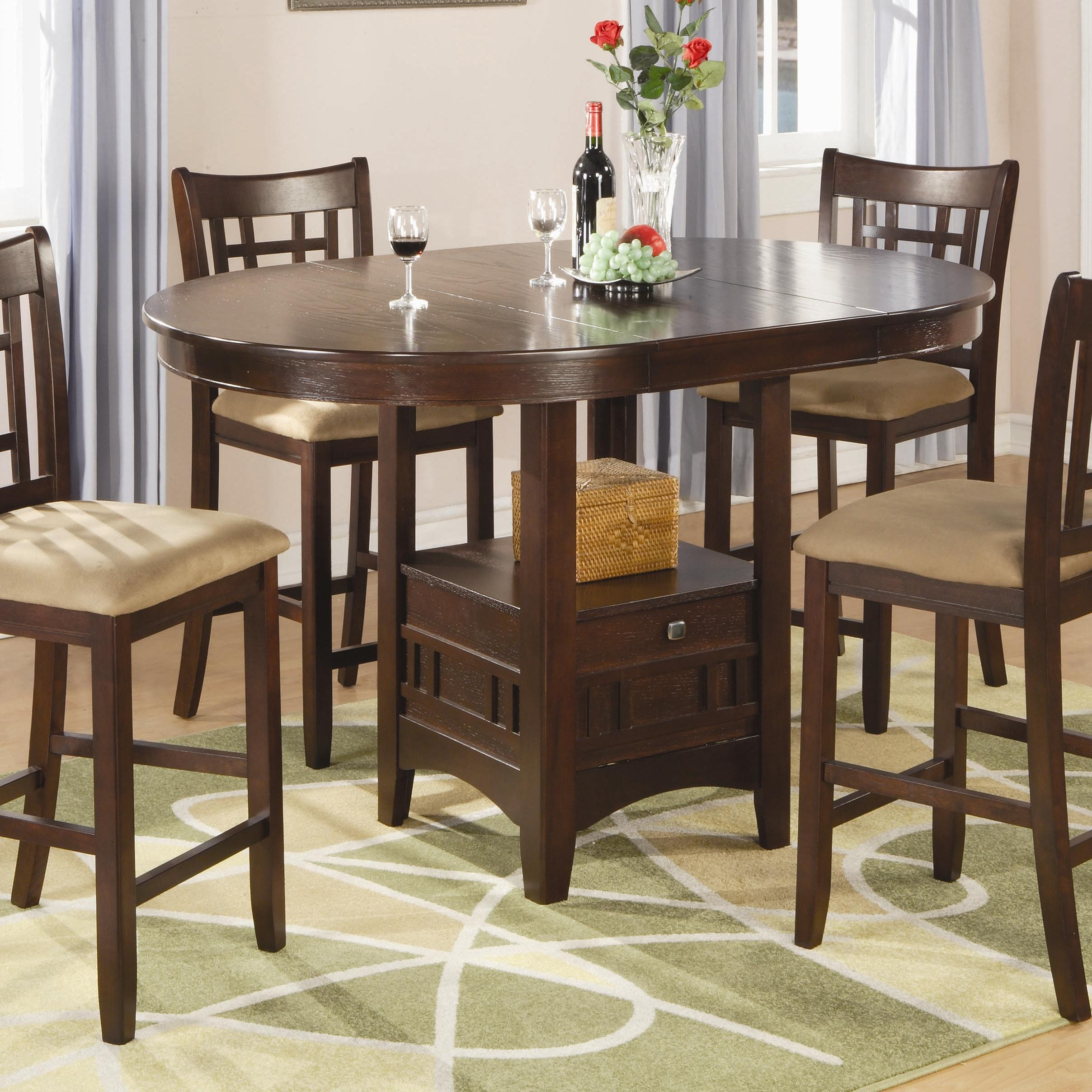 bar height tables and chairs leather parsons coaster game room counter table 100888n a