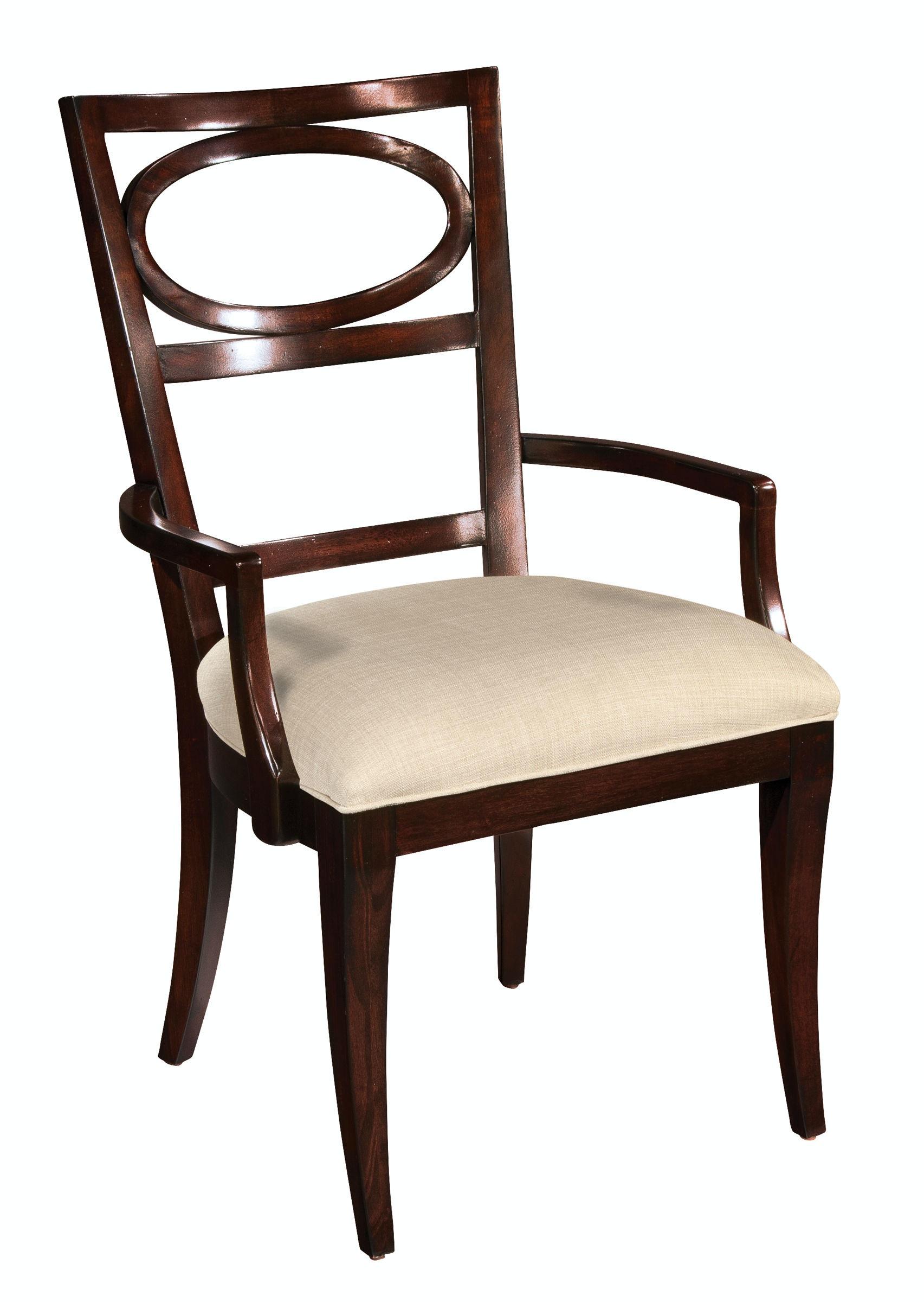 oval back dining room chairs wheelchair definition hekman arm chair 23124 hampton