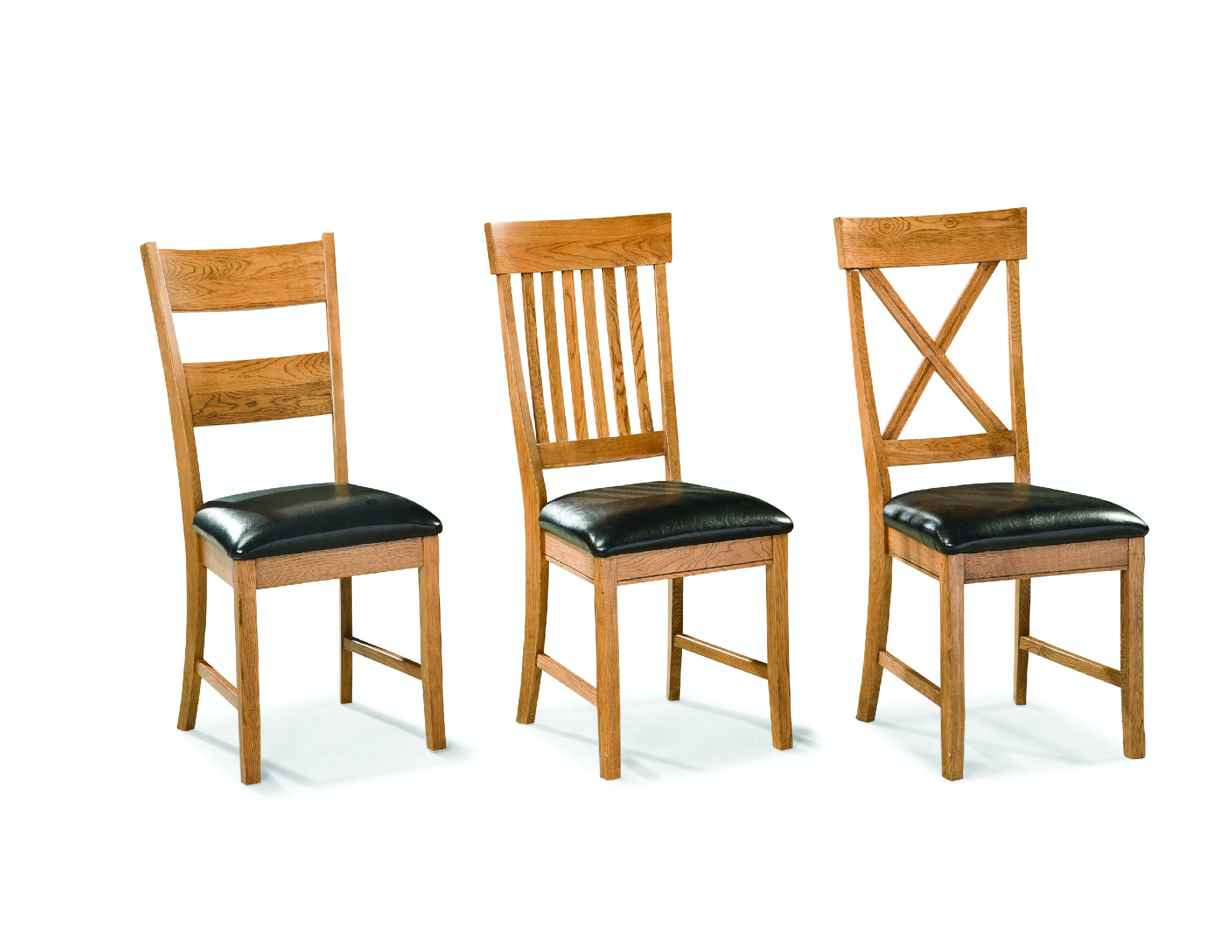 ladder back dining room chairs leather chair modern intercon family side