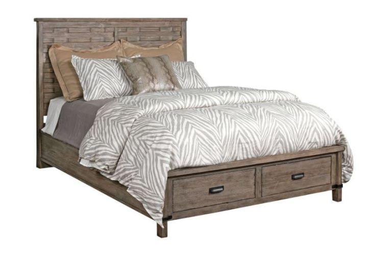 Kincaid Furniture Bedroom Panel Queen Bed Complete WStorage Footboard 59 138P Wells Home