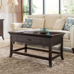 Cherry Furniture Living Room Leather Sets Leick Traditional Tray Edge Coffee Table 10128