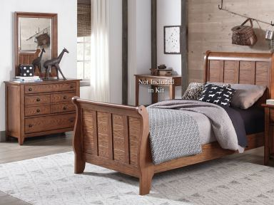 Liberty Furniture Twin Sleigh Bed Dresser And Mirror 175 Ybr Tsldm