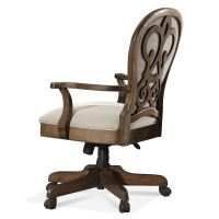 Riverside Home Office Scroll Back Upholstered Desk Chair ...