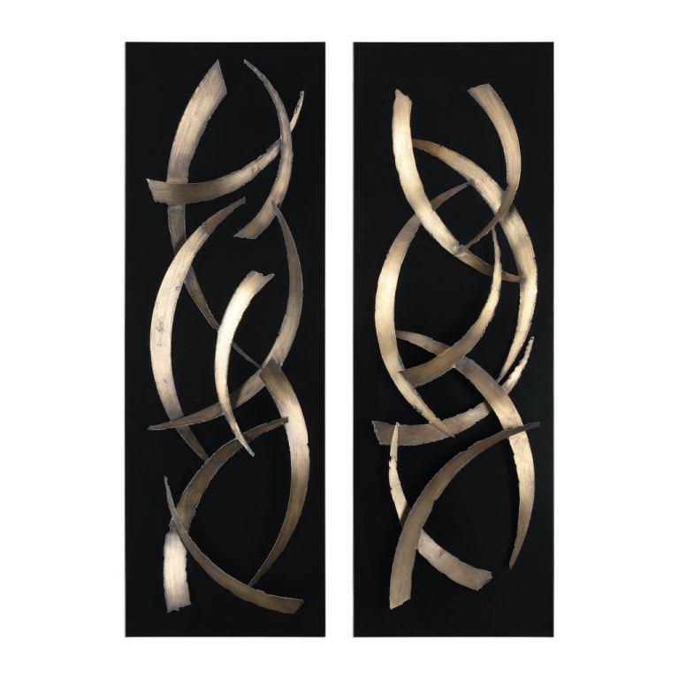 Uttermost Accessories Brushstrokes Metal Wall Art S 2