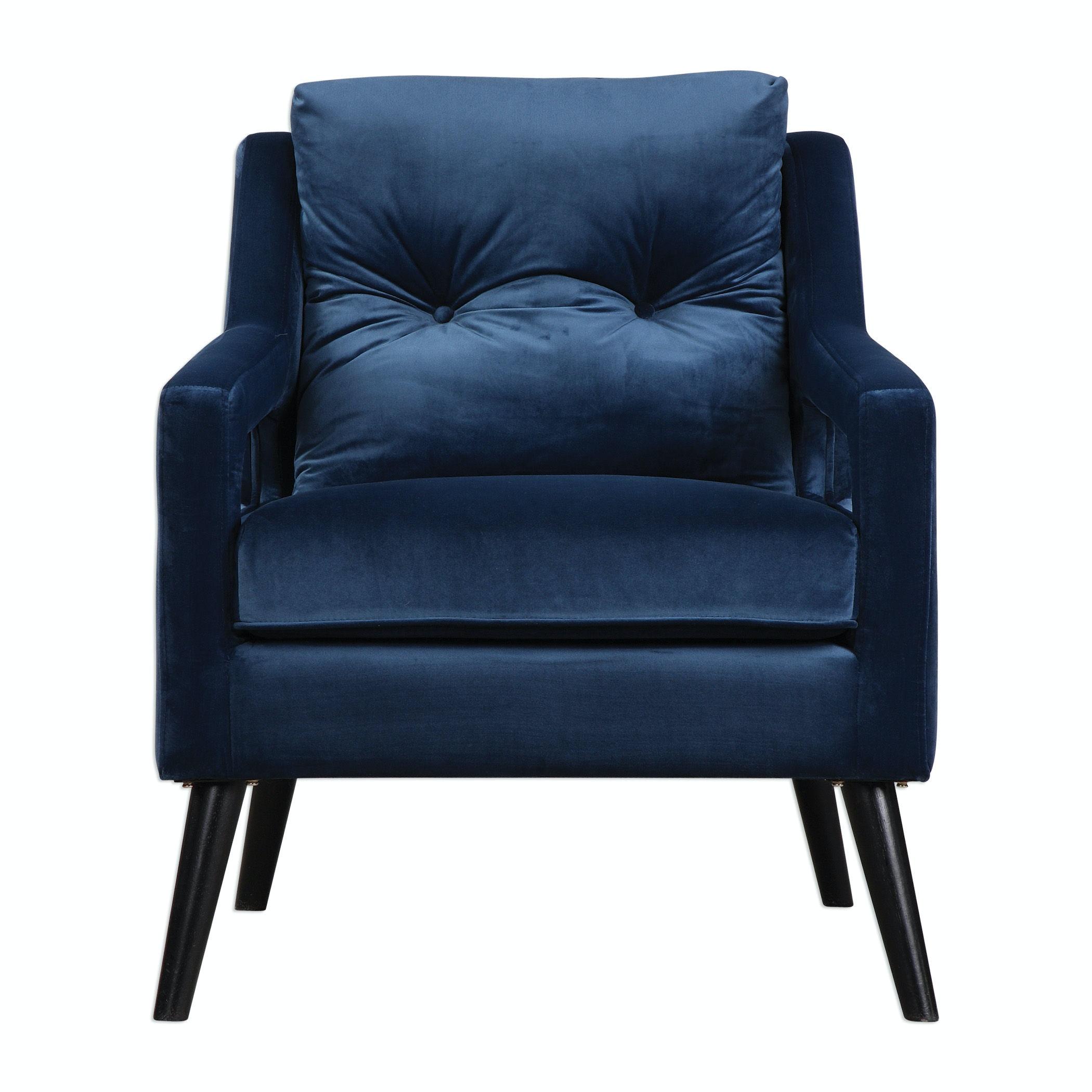 blue velvet armchair nz lite fishing chair uttermost living room o 39brien 23318