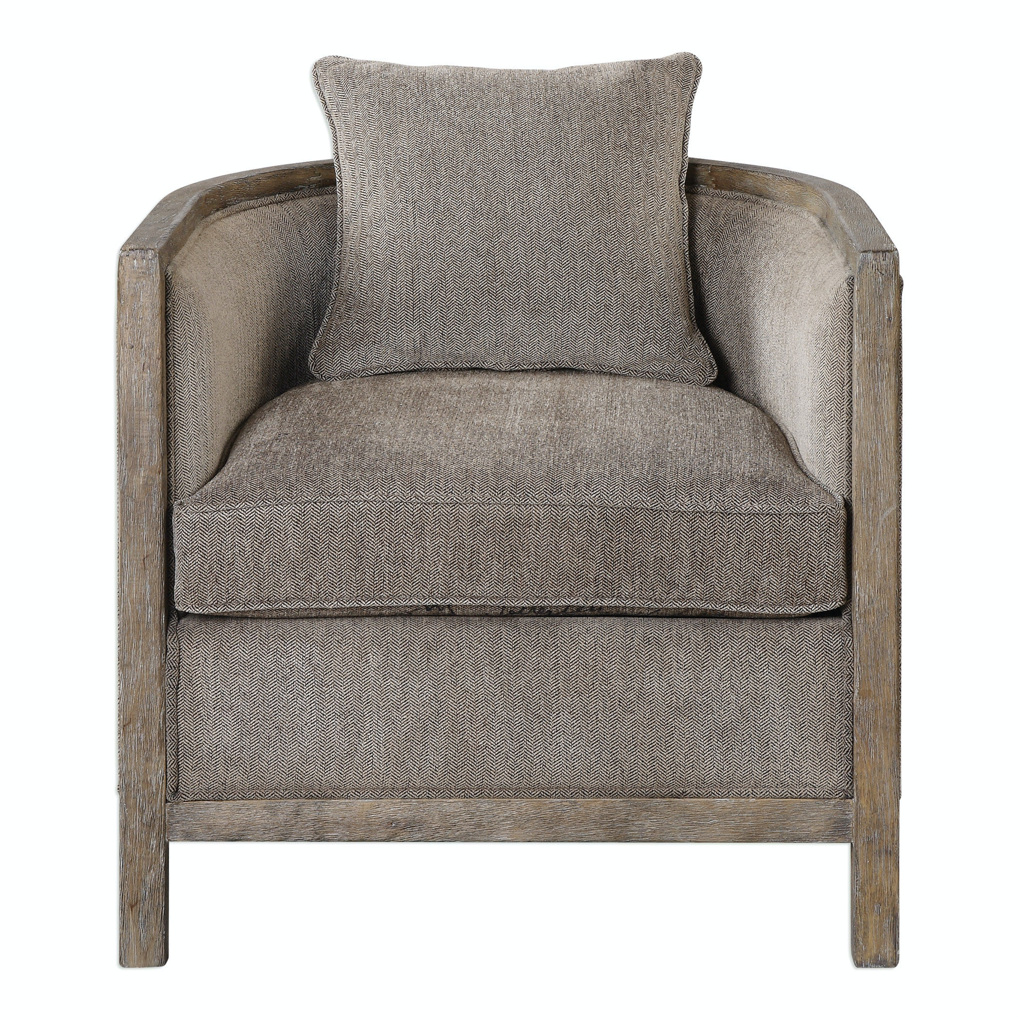 tub accent chair trendy chairs uk uttermost viaggio gray chenille living room