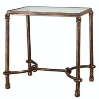 Uttermost Living Room Warring Iron End Table