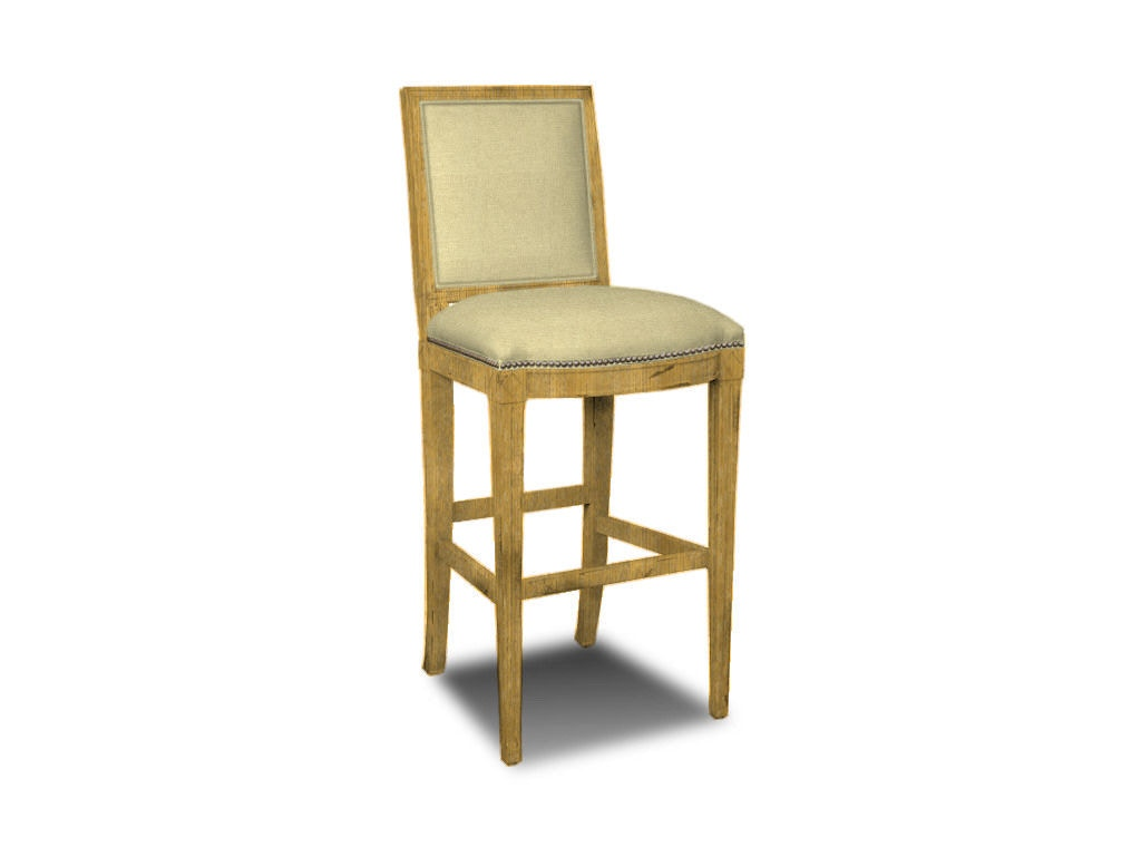 hickory chair vanity stool with cushion dining room amsterdam bar 1552 03