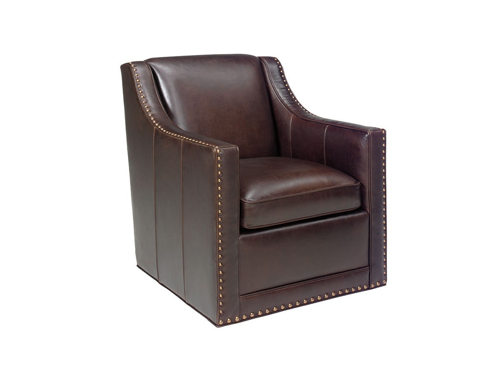 Lexington Living Room Barrier Leather Swivel Chair Ll7620