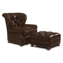 Thomasville Leather Chair Padded Shower With Armrests Lexington Living Room Elle Ll7978 11 Home