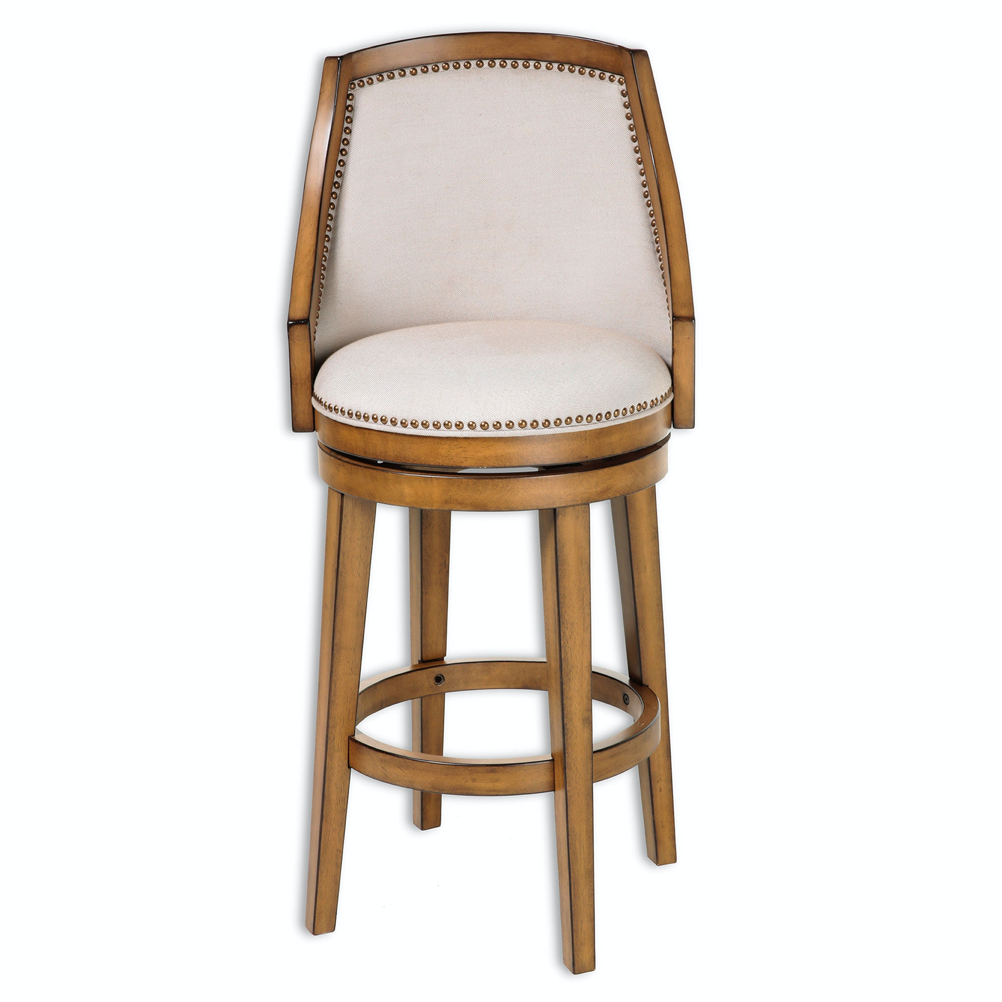 chair bed stool resin wicker rocking fashion group bar and game room charleston swivel seat counter with acorn finished wood