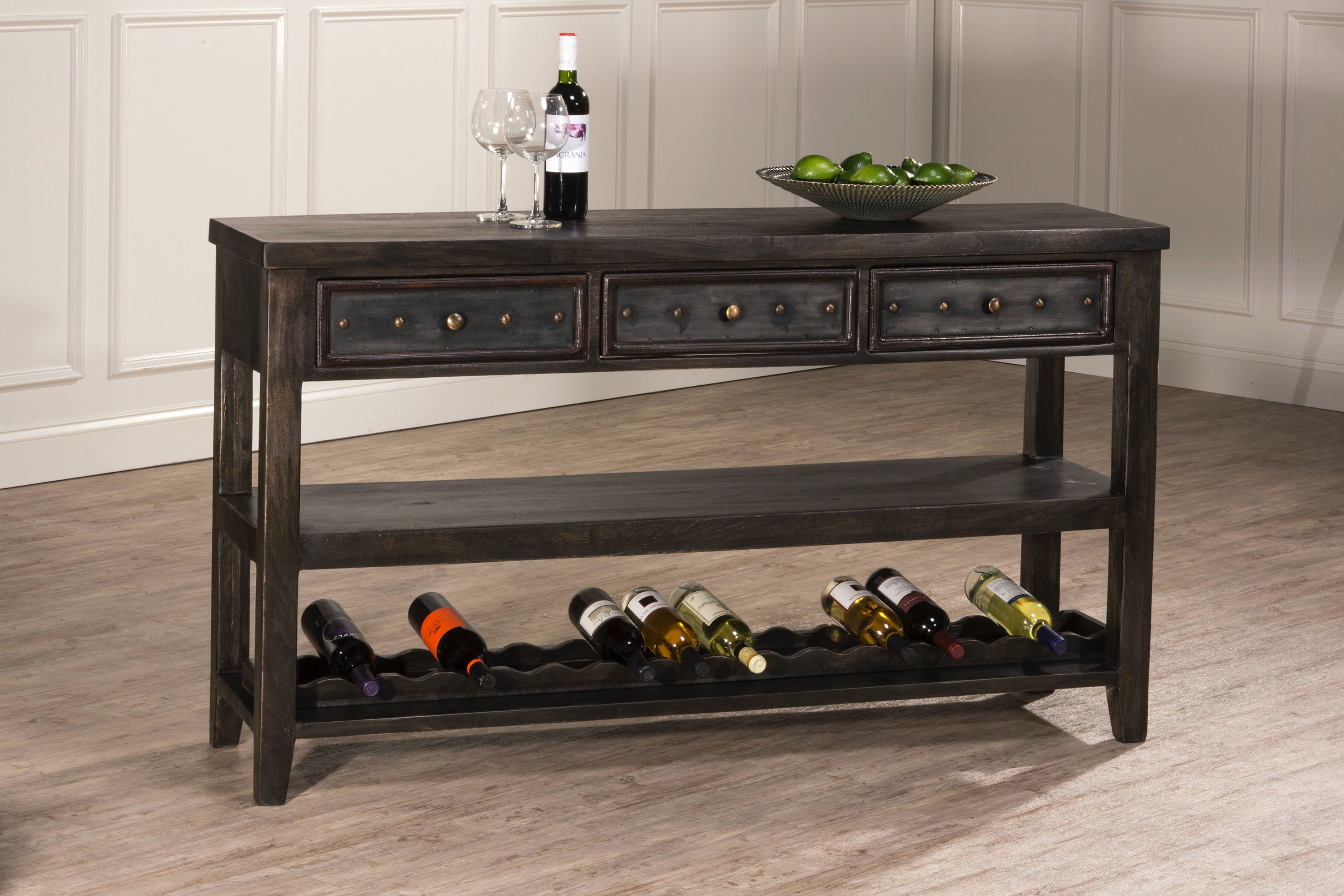 wine rack in living room hillsdale furniture bolt console table with removable