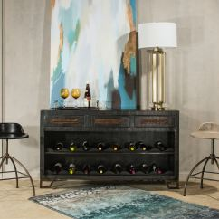 Wine Rack In Living Room Paint Color Ideas India Hillsdale Furniture Bridgewater Console Table With Removable Rubbed Black 5806 898 North Carolina Mattress Newport