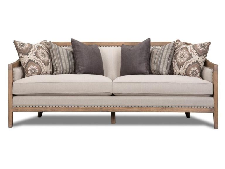 magnussen home living room taupe sofa