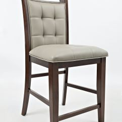 Upholstered Counter Height Chairs Newborn High Chair Jofran Bar And Game Room Stool Grey Pu 2 Ctn 1672 Bs385kd At China Towne Furniture