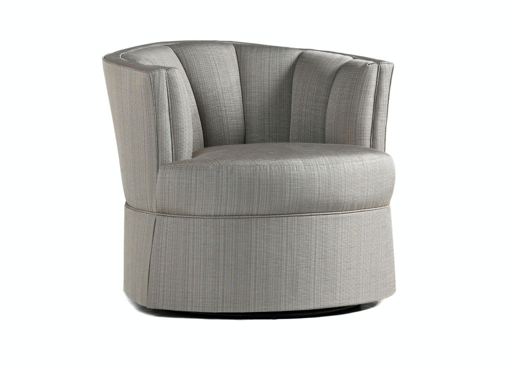 Jessica Charles Swivel Chairs Jessica Charles Living Room Jude Swivel Chair With Skirt