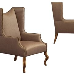 Wing Chairs For Living Room Crate And Barrel Tess Chair Leathercraft Furniture Linden 1292