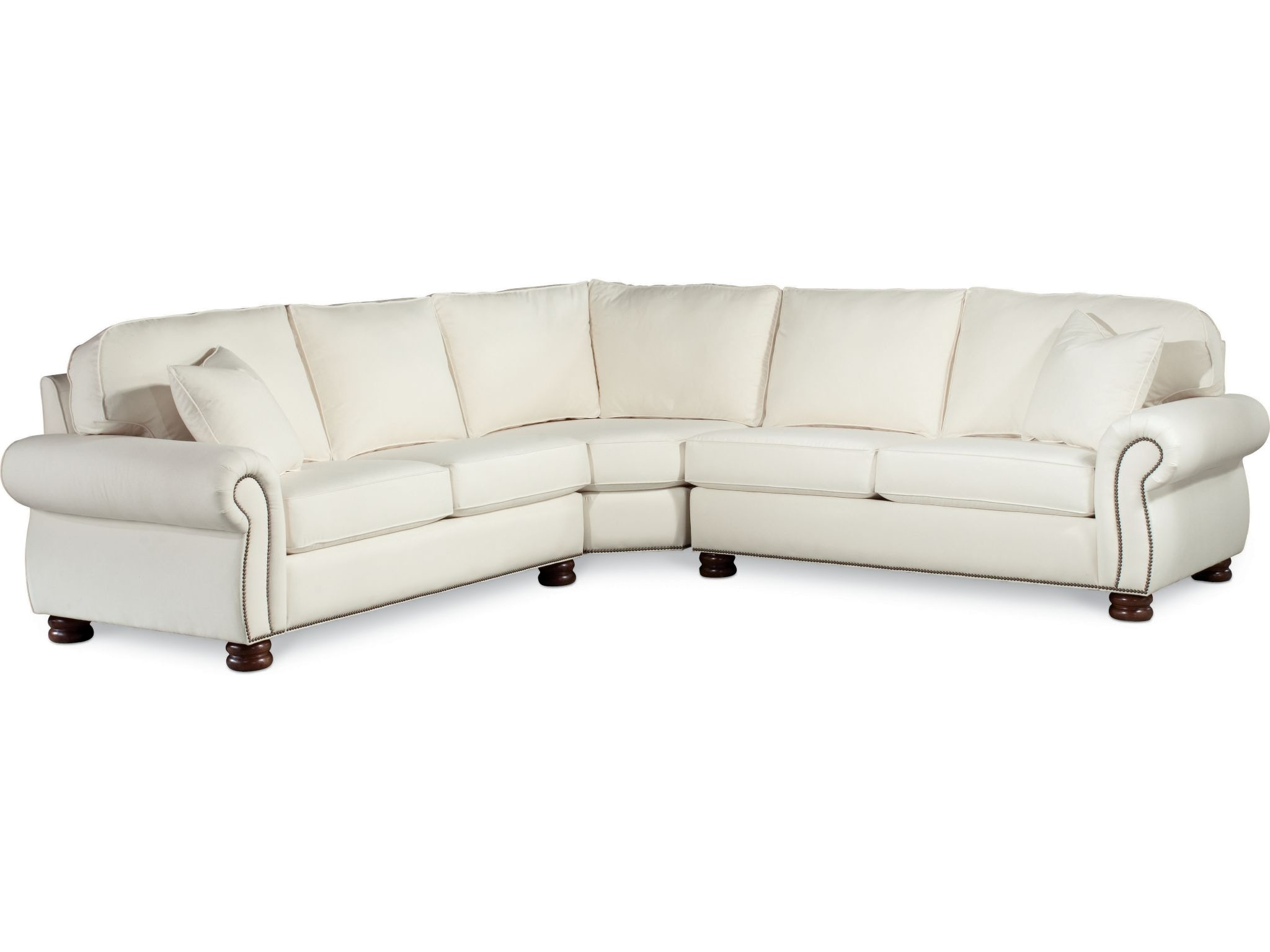 thomasville benjamin leather sofa bed with chaise lounge living room sectional 1461 sect