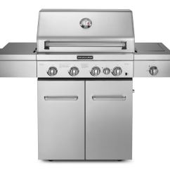 Kitchen Aid Gas Grills Counter Height Island Kitchenaid Outdoor Patio Freestanding Grill 720 0745a Daws