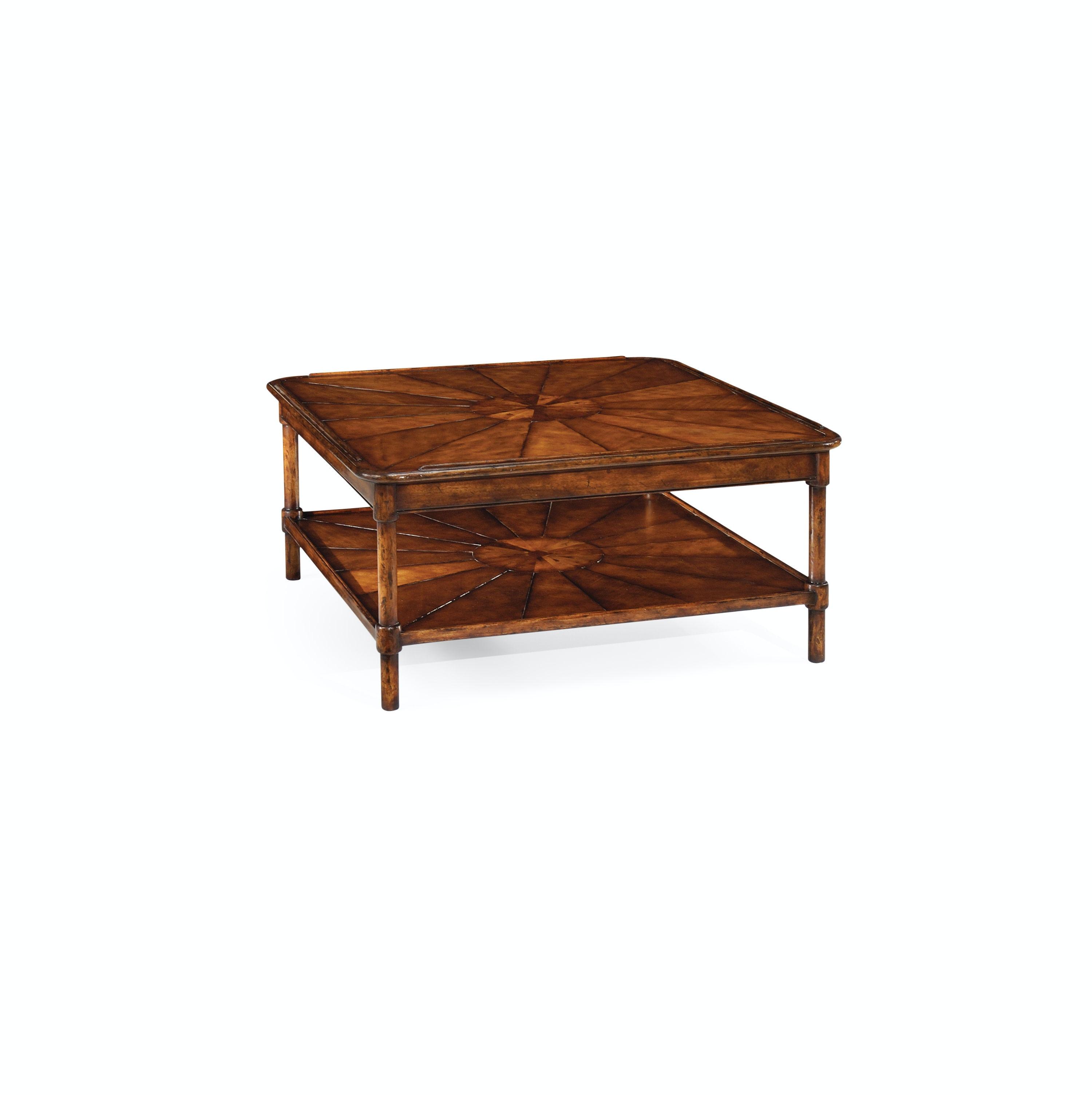 jonathan charles living room square rustic walnut coffee table qj492599wal walter e smithe furniture design
