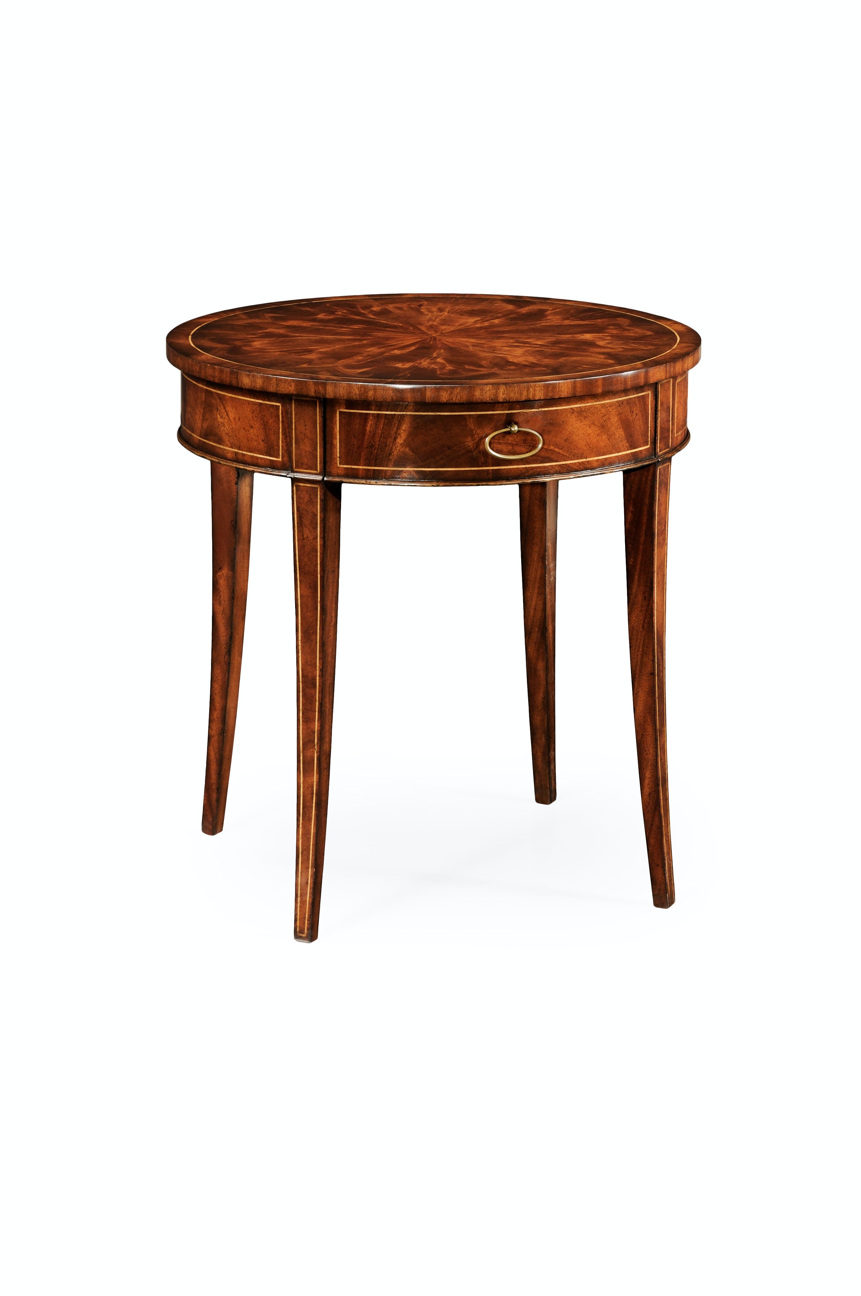 mahogany side tables living room painting my ideas jonathan charles round table fine stringing 494003 lam at louis shanks