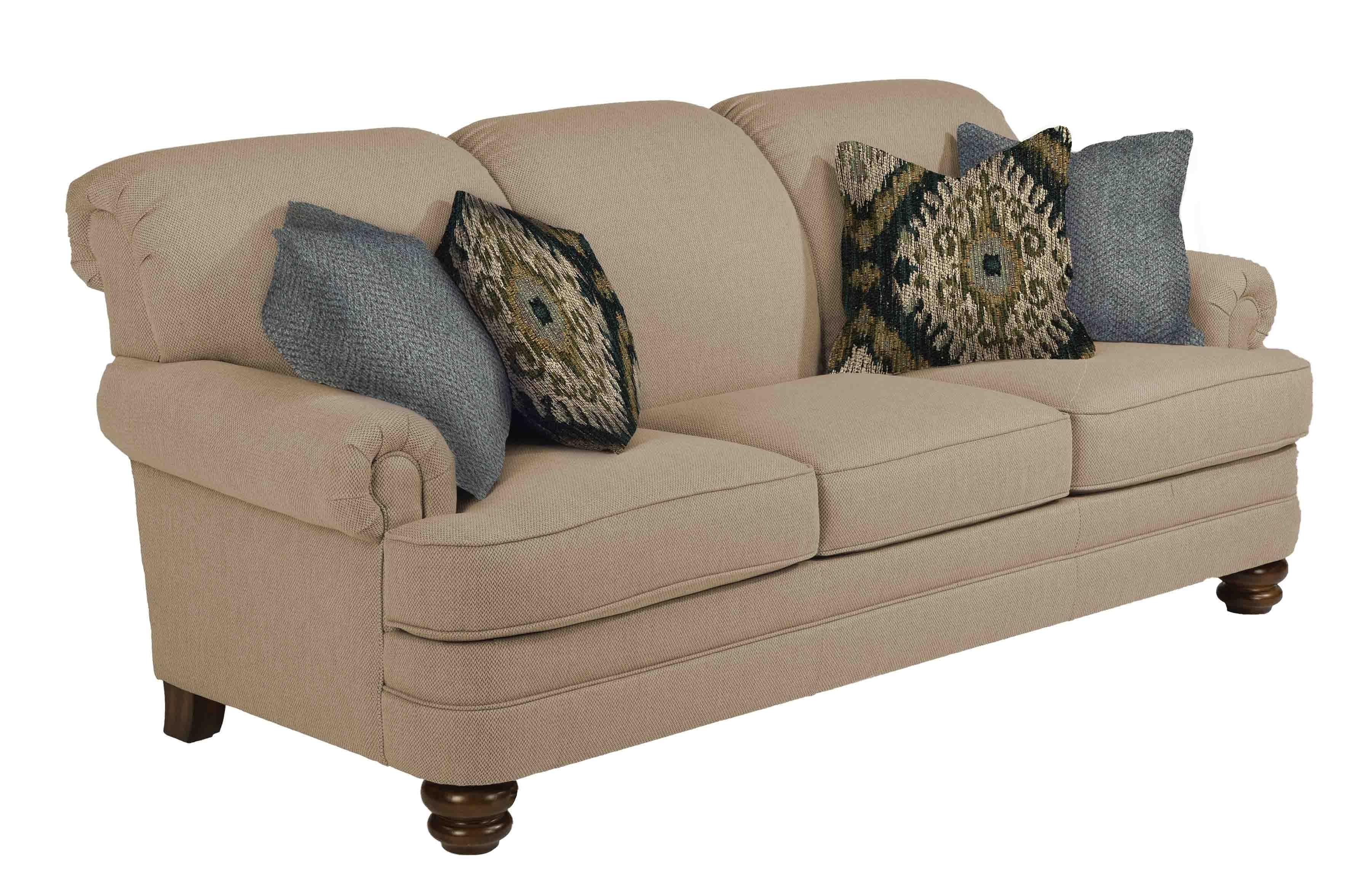 bay sofa fundas de la redoute flexsteel living room 85 bridge 411625 naturwood home at furnishings