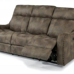 Flexsteel Double Reclining Sofa Reviews Cost Plus Sofas Ireland Springfield Fabric Power With Headrests 1418 62ph 199 02 In
