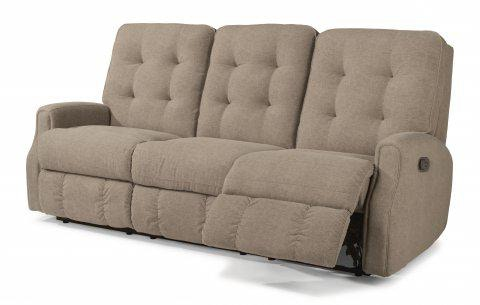 reclining sofa with nailhead trim fletcher ii queen memory foam sleeper reviews flexsteel devon leather without 3882 62 in portland oregon
