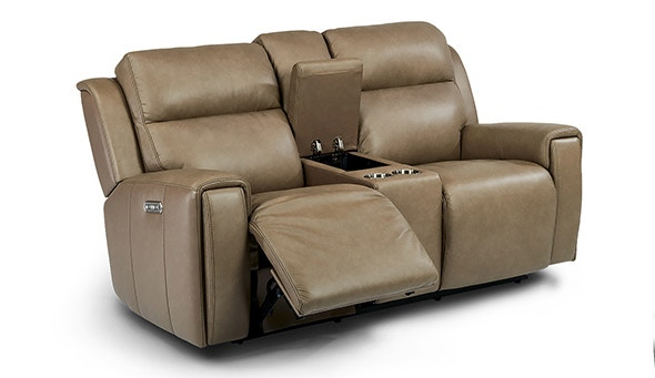 flexsteel chair prices cheap patio covers living room jasper power recliner sofa with headrest 1687 64ph at furniture plus inc