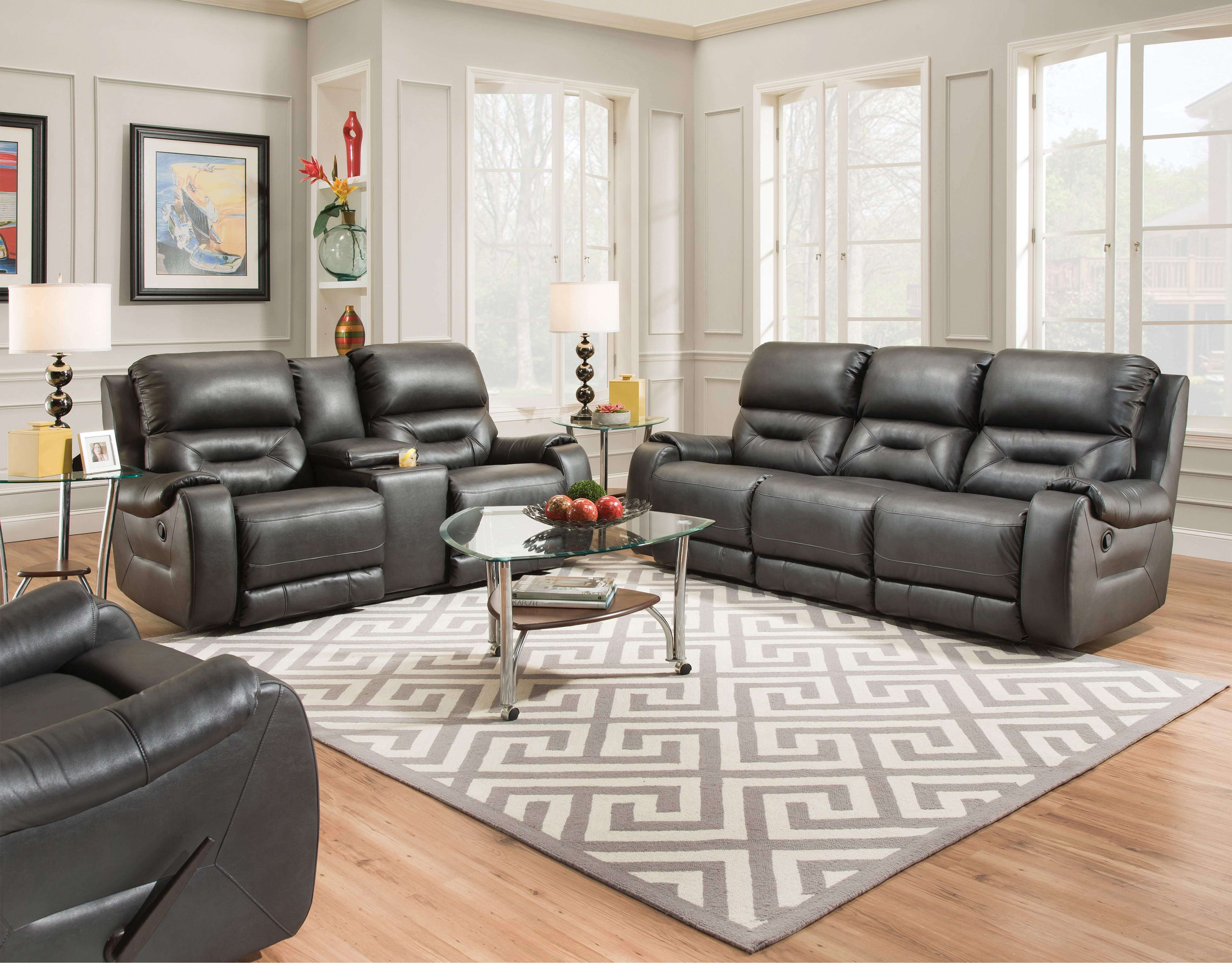voyager lay flat triple reclining sofa oak tables cheap recliner southern motion living room urban