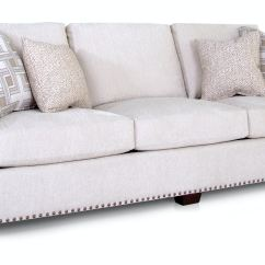 Rolled Arm Sofa With Nailhead Trim 3 Seater Images Norah Clic Oatmeal Cream Linen