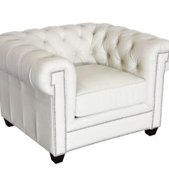 Tufted Leather Sofa Edmonton Bed Cost Hudson Living Room Kingston Chair 100 Ivory