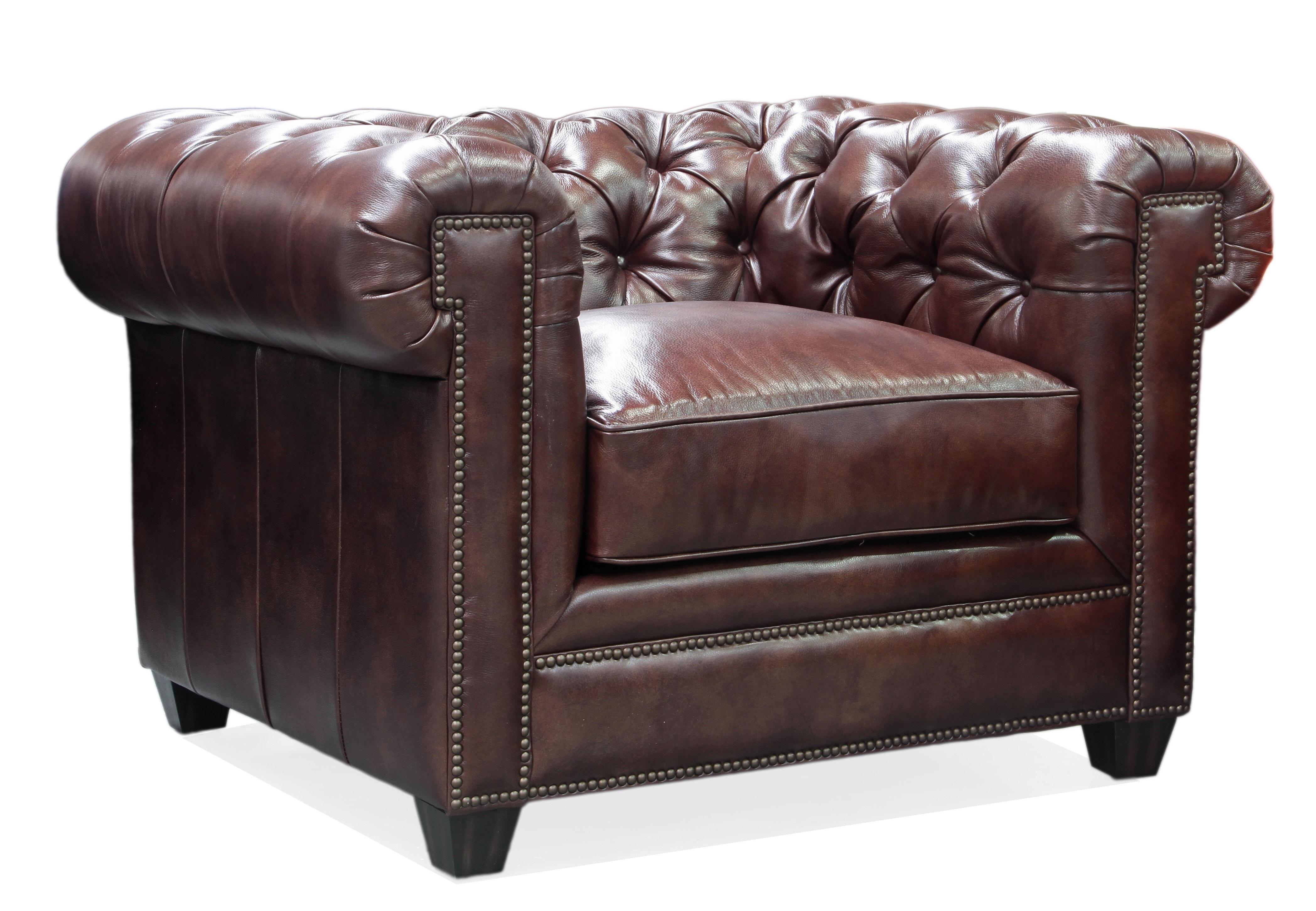 tufted leather sofa edmonton maroon coloured sofas hudson living room kingston chair 100 419400